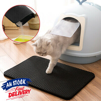 Pad Double Layer Trapping Waterproof Mat Design Honeycomb Cat Kitty Litter ACB#