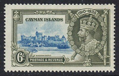 CAYMAN ISLANDS 1935 SG110 6d SILVER JUBILEE MNH