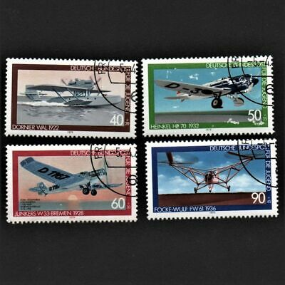 OLD STAMPS GERMANY 1979 cv£6.15 FULL SET AVIATION HISTORY USED NEVER HINGED