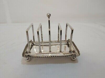 An Antique Victorian Silver Plated Toast Rack.late 1800.s.very collectable.
