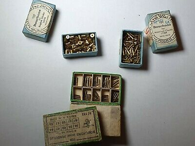 Bouchons for clocks American & English & Pendules assorted watchmaker lot Swiss