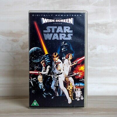 Star Wars Episode IV A New Hope Widescreen VHS Video Original Trilogy Remastered