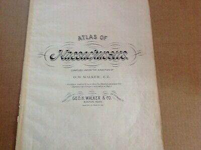 Antique original 1891map of Marthas Vineyard & Eliz. Islands fr. ATLAS BY Walker