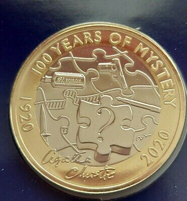 2020 Royal Mint Agatha Christie Two Pounds £2 coin Brilliant Uncirculated BUNC