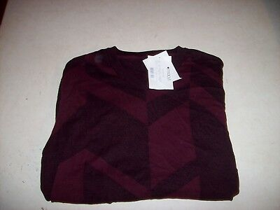 INC International Concepts Men's Small Red Black Full Zip Sweater Jacket NEW NWT