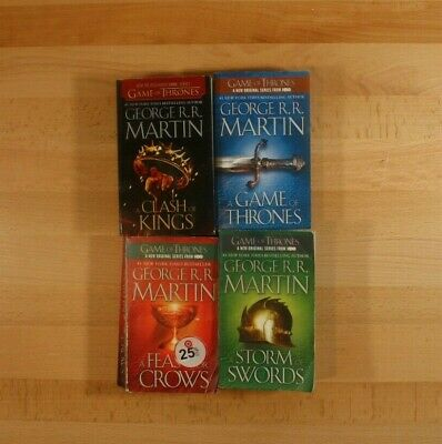 GAME OF THRONES Books Lot of 4 Paperbacks George R.R. Martin Song of Ice & Fire