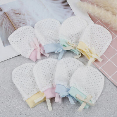 1pair newborn baby mittens baby cotton anti scoring gloves boy girl accessor FD