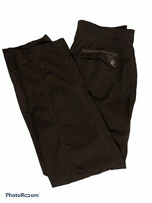 Chicos Brown Cargo Pants Womens Size 1(M/8) Stretch Waist
