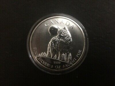 2011 Canada $5 Timber Wolf Wild Life series 1oz Fine Silver Bullion Coin round