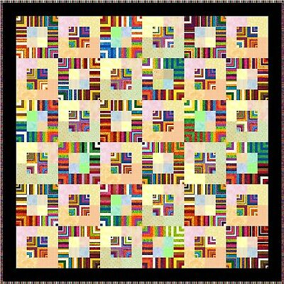"""JUMBALAYA - 54"""" - Pre-cut Quilt Kit by Quilt-Addicts Lap size"""
