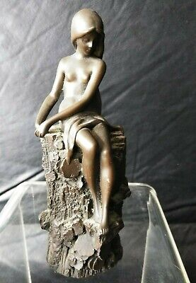 CARVED WOOD? FRENCH VTG RARE  Asian Statue Figure Figurine LOT