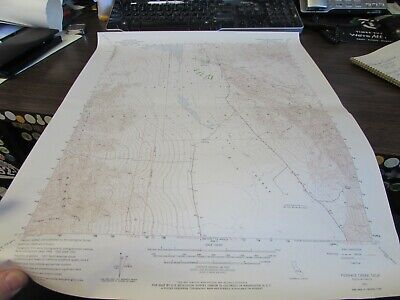 Furnace Creek California  - Topographic Map U.s. Geological Survey 1964