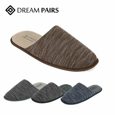 Men's Memory Foam Slippers Knitted Anti-slip Indoor/Outdoor Slip On House Shoes