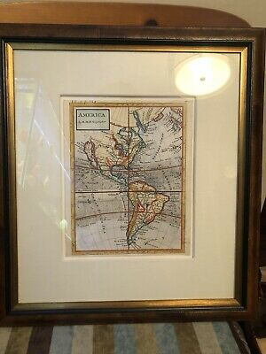 "EXTREMELY RARE. H. Moll ""America"" - California As An Island 1700's Antique Map"