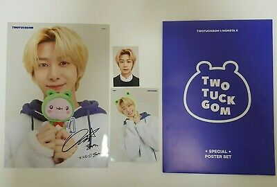 Monsta X Twotuckgom Official Photo Card Photocard + A4 Poster Hyungwon Set