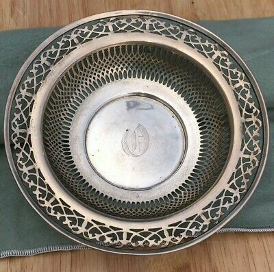 Beautiful Antique Open Work Sterling Silver Candy Dish Serving Bowl 77 gr. Nice!