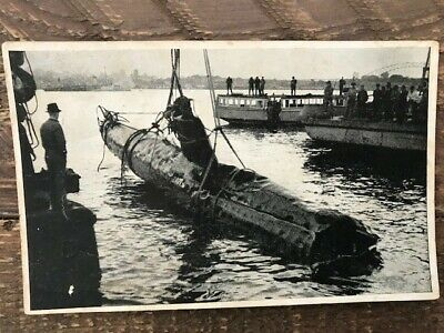 "WW11 Postcard ""R.A.N. Exhibition Of Raising The Japanese Midget Submarine....."""