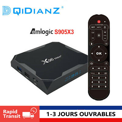 X96MAX+ Android 9.0 4GB Amlogic  S905X3 Quad Core Multimédia Smart TV BOX
