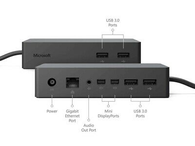 Microsoft 1661 Surface Dock For Surface Pro 6, Pro 5, Pro 4,  Surface Book 2 & 1