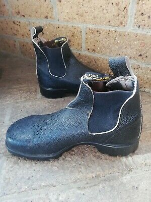 Vintage Blundstone Boots 80s Black Steel Cap Womens Size 8 NEW Made in Tasmania