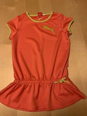 Puma Girls Athletic Peplum Top, Coral Pink Color, Short Sleeves, Sz 10 (large)