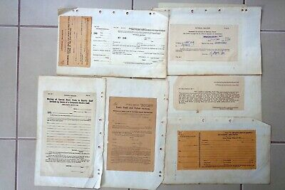 "VICTORIAN RAILWAYS - A Collection of Twenty old ""Safe Working Forms"""