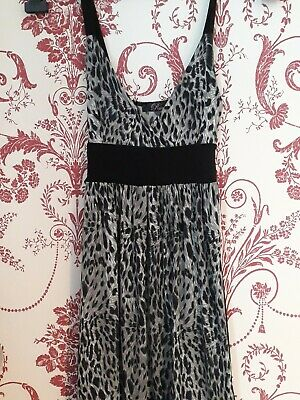 Ladies Rare animal print dress black white size 8 party fit 'n' flare girls