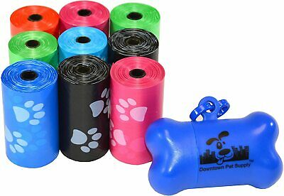 Poop Bags for Dogs Waste Pet Dog Cat Leak-Proof with Leash Clip and Bag Dispener