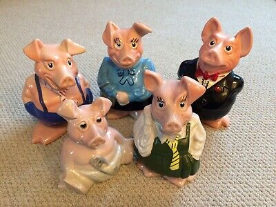 NatWest Pigs - Money Boxes Full Set - Wade - Excellent Condition