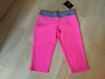 GIRLS NIKE LEGEND CAPRI DRY FIT WORK OUT LEGGINGS SIZE 9/10 yrs BNWT