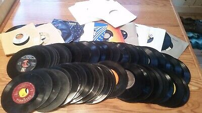 "Lot Of 70+ ASSORTED 45's Records for your Jukebox or more 7"" 45 rpm"