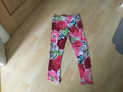 TED BAKER GIRLS FLORAL LEGGINGS SIZE 8/9 yrs **99p**