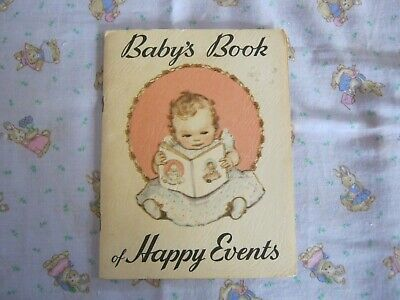 "Vintage ""Babys Book of Happy Events"" Issued by State Savings Bank Betty Paterson"