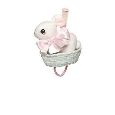 Manhattan Toy Lullaby Bunny Pull Musical Crib and Baby Toy