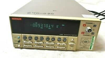Keithley  2182 NanoVoltmeter As Shown with Power Cord