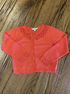 Immaculate Girls Little Marc Jacobs Sequin Coral Cardigan Age 3