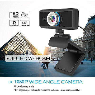 USB HD 1080P Webcam Autofocus Web Camera With Mic For Win10 PC Computer