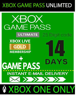 XBOX LIVE 14 Day GOLD + Game Pass (Ultimate) Trial Code INSTANT DELIVERY