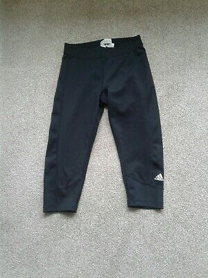 Ladies Adidas Climalite Black Active 3/4 Length Leggings Size 8-10