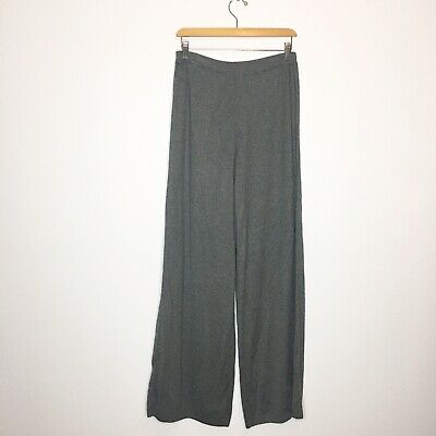Planet Lauren G Gray Soft Pima Cotton Wide Leg Pants Sz 2