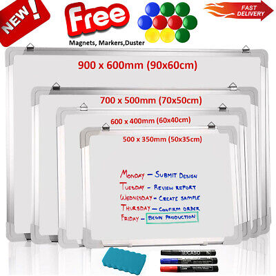 School Office Home Magnetic Whiteboard Dry Wipe Drawing Board Small Medium Large