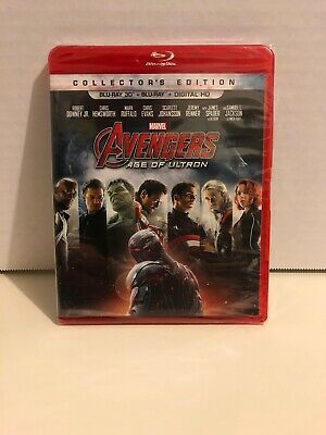 Avengers: Age of Ultron (Blu-ray Disc, 2015, W/ Digital Copy 3D) Factory Sealed
