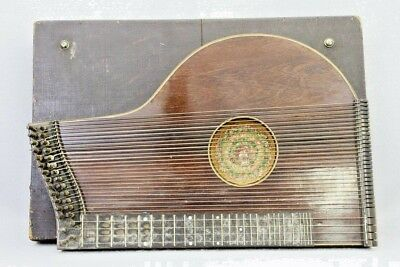 Musical Zither in Case Handmade Quilt Cover