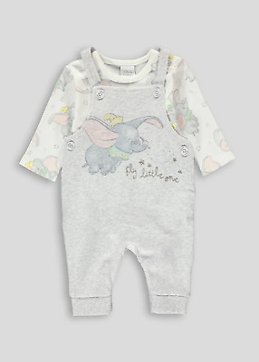 Disney Baby Boys Dumbo Dungarees and Bodysuit Outfit BNWT