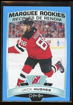 2019-20 Upper Deck Series 2 Opc Blue Jack Hughes Rookie New Jersey Devils Rc