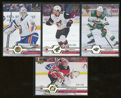 2019-20 Upper Deck Series 2 Exclusives Lot Of 4 Greiss Schmaltz Koivu Schneider