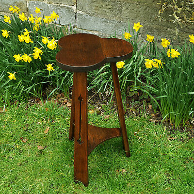 Victorian Arts & Crafts Gothic Style Oak Side Wine Table C19th