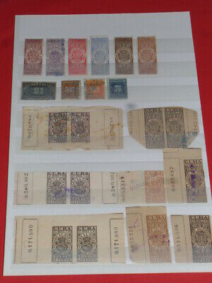 South America Südamerika 22 old Stempelmarken REVENUE Stamps 0 used Fiskal
