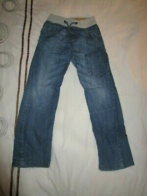 boys boy blue denim jeans next age 10 years cuffed waist