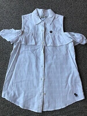 Brand New Abercrombie & Fitch Kids Girls White Top/Blouse Age 13/14 Years